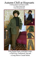 "Autumn Hogwart's Doll Clothes Sewing Pattern 17"" Harry Potter  Tonner"
