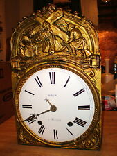 Antique-French-Morbier Clock/Movement-Ca.1875-To Restore-#N327