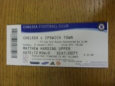 09/01/2011 Ticket: Chelsea v Ipswich Town [FA Cup] . Thanks for viewing this ite