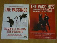 The Vaccines - Scottish tour concert gig posters x 2