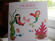 Handmade Personalised Mermaid Birthday Card 5th, 6th, 7th, 8th Sister Daughter