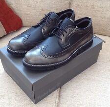 Nuevo Y En Caja TIMBERLAND Para Hombres Zapatos Negros Britton Hill punta del ala Oxford. Size UK 6.5