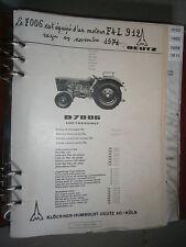 DEUTZ tracteur D7006 7006 : catalogue de pièces