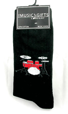 Drum Set Socks - Music Themed Gift - Musical Socks for Men - Music Gifts