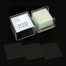 100PCS Blank Microscope Slides Square Cover Glass Biological Specimen Slice 22mm