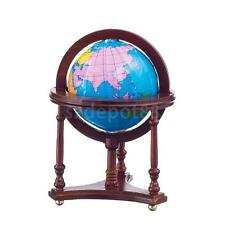 1:12 Dollhouse Miniature Study Room World Globe With Red Wood Stand