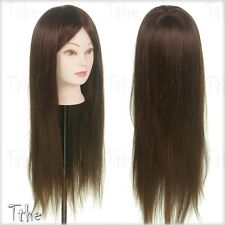 "Salon 24"" 50% Real Hair Mannequin Doll Head Training Hairdressing & Stand"