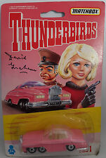 THUNDERBIRDS : FAB 1 CARDED DIE CAST MODEL SIGNED BY DAVID GRAHAM IN 2016