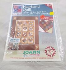 Jo-Ann Heartland Quilt Block of the Month January 1999 Pieces Of My Heart Sealed
