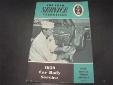 1959 Ford Mechanic Car Body Service Handbook Forum Manual