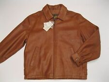 New $200 Airborne Leathers Genuine Leather Motorcycle Jacket Brown Distressed M
