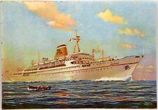 """Cartolina Marina - Transatlantico """"Ausonia"""" Società Di Navigazione Adriatica -"""
