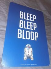 STAR WARS R2D2 Two Sided Wall Sign 12x8 BLEEP BLEEP BLOOP New Movie Cool Robot!