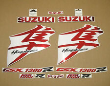 GSX 1300R Hayabusa 2008-2009 complete decals sticker graphics kit set chrome red