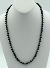 Genuine Natural Peacock Black Freshwater Cultured 5-6mm Pearl Necklace 24""