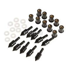 Black Windscreen Spike Bolts Well Nuts For Kawasaki Ninja ZX 6R 636 10R 250R EX
