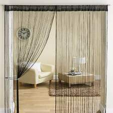 Classic String Tassle Fringe Panel Divider Window Door Curtain 90x200cm BLACK