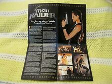 Electronic Gaming Magazine EGM Tomb Raider Interview Angelina Jolie Poster
