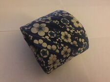 Liberty Of London Silk Blue And White Floral Casual Necktie