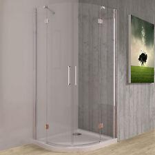 Box doccia semicircolare 90x90 cristallo trasparente doppio battente anticalcare