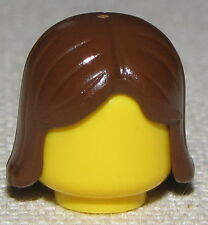 LEGO NEW BROWN MINIFIGURE WIG BOY GIRL MID LENGTH PIECE