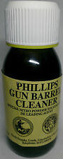 PHILLIPS GUN BARREL CLEANER 60ml BOTTLE NITRO POWDER SOLVENT DE-LEADING AGENT