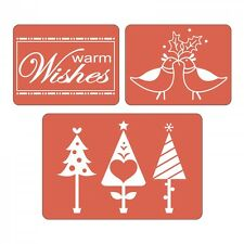 Sizzix Textured Impressions Embossing Folders  Warm Wishes Set Christmas 3 Piece