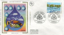 1996 FRANCE FDC - 3003 1 ACCORD RAMOGE - MARSEILLE - LUXE sur soie
