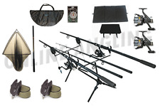 Complete Carp Fishing Outfit, Rods, Reels, Line, Alarms, Pod, Net, Mat, RRP £199