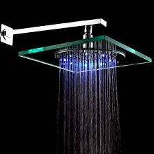 8 Inch Wall Mount Square Rainfall Showerhead with Build-in LED Light T8