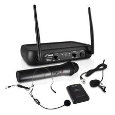 NEW Pyle PDWM2140 VHF Wireless Microphone System w/Handheld  Lavalier & Headset