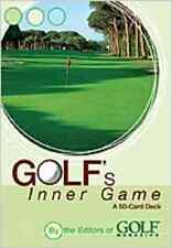 NEW GOLFS INNER GAME BY GOLF MAGAZINE 50 CARD DECK TIPS MENS GIFT