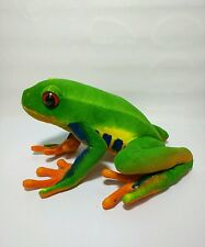 Unbranded Colorful Abstract Tree Frog Stuffed Animal 14""