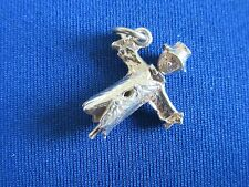 VINTAGE STERLING SILVER CHARM ARTICULATED SCARECROW MAN BIRD