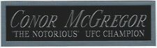 CONOR MCGREGOR NAMEPLATE FOR AUTOGRAPHED Signed GLOVES-TRUNKS-PHOTO-UFC-MMA