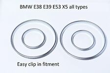NEU BMW E39 E39 E53 X5 tachoringe satiniert silber gauge ring instrument matt M5