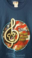 Walt Disney World Magic Music Days Blue XL T Shirt Celebrate American Heritage