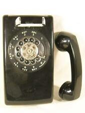 WESTERN ELECTRIC BELL AT&T BLACK 554 BMP CLASSIC ROTARY DIAL WALL TELEPHONE