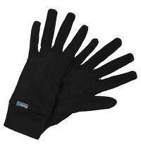 NEW ODLO WARM BASE LAYER SKI RUNNERS GLOVES LARGE 9 BLACK WINTER CYCLING BIKE