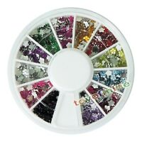 New Nail Art Rhinestones Glitters Flower Acrylic Tips Decoration Manicure Wheel