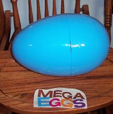"Jumbo Mega 12"" BLUE Plastic Surprise Prize Easter Egg NWOT"