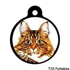 MAINE COON CAT -Custom Personalized ID Tag for Cat & Dog Collars & Harnesses