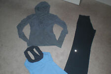 Lot of Lululemon Luon Still Pants, Dance Studio Jacket and Scoop Neck Tank sz 4