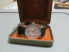 Allenby Swiss Savannah Collection Wristwatch in Box (round/leather/metal band)