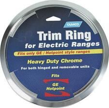 CAMCO 00313 8 INCH CHROME OVEN STOVE DRIP PAN BOWL TRIM RING GE HOTPOINT 6836837