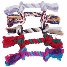 Up NEW Pet Chew Knot Toy Cotton Braided Bone Rope Color Puppy Dog