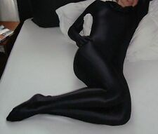 Black Lycra Spandex Catsuit Halloween Party Zentai Costumes S-XXL