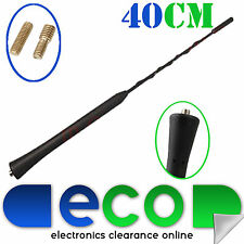 40cm SKODA FABIA OCTAVIA Mast Roof Mount Replacement Car Aerial Antenna Black