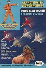 X4174 MicroMachines micro aerei volanti - GIG - Pubblicità 1990 - Advertising