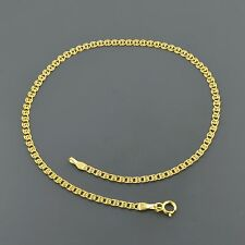 "10K YELLOW GOLD 2.7MM MULTI LINK LOVE 10"" ANKLET FREE SHIPPING"